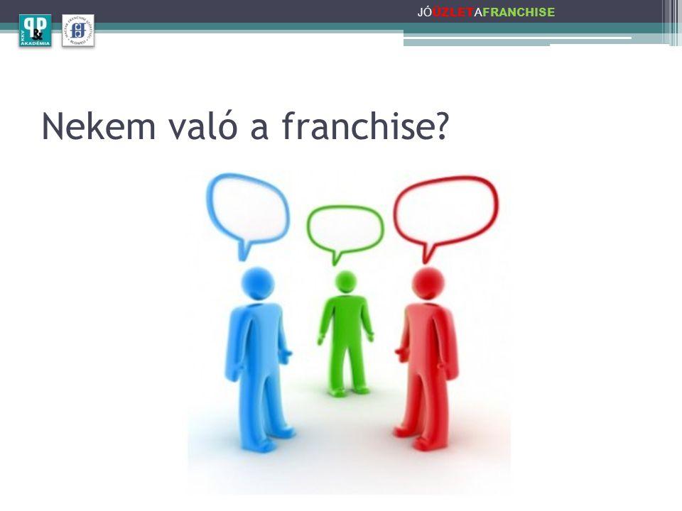 JÓÜZLETAFRANCHISE Nekem való a franchise