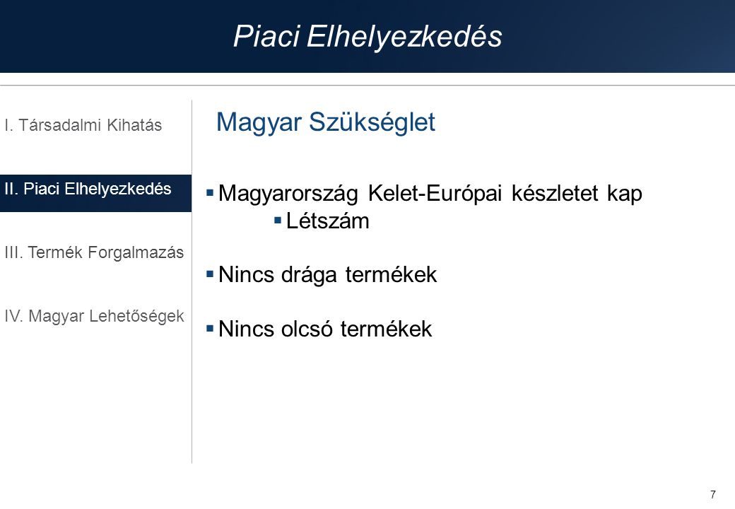 Piaci Elhelyezkedés Magyar Szükséglet