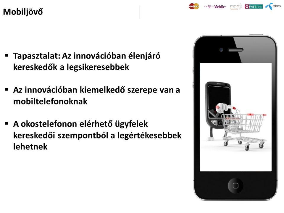 Mobiljövő Tapasztalat: Az innovációban élenjáró kereskedők a legsikeresebbek. Az innovációban kiemelkedő szerepe van a mobiltelefonoknak.