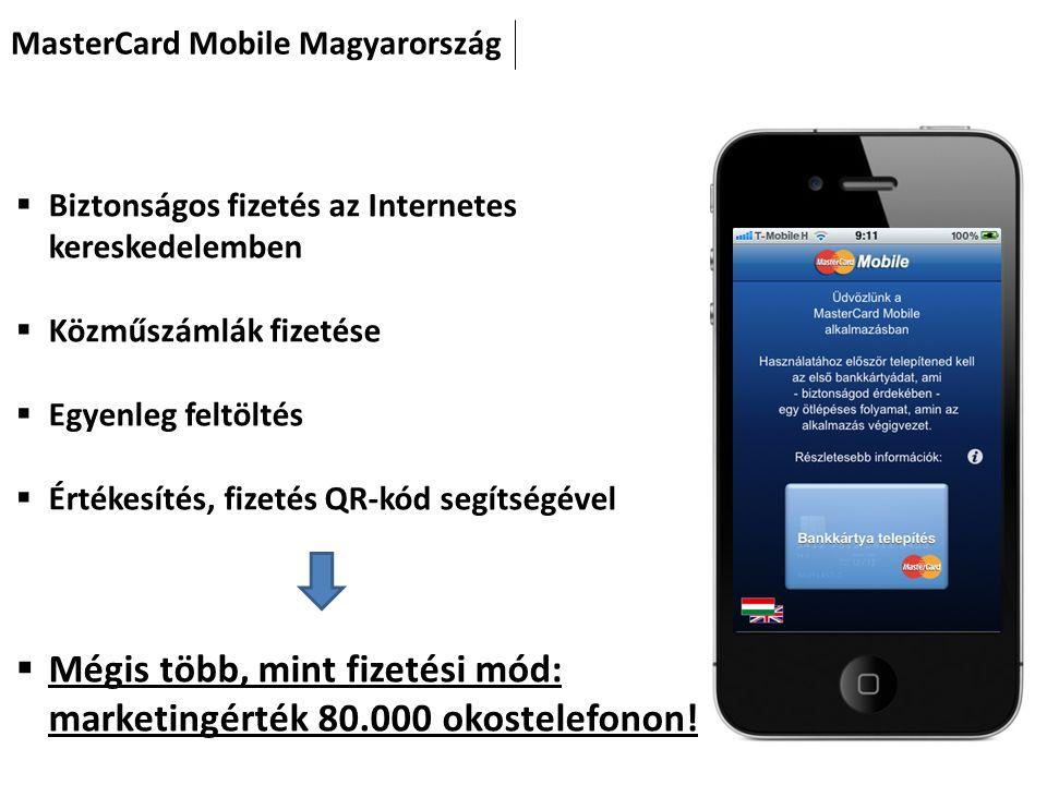 Mégis több, mint fizetési mód: marketingérték 80.000 okostelefonon!