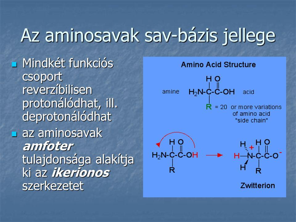 Az aminosavak sav-bázis jellege