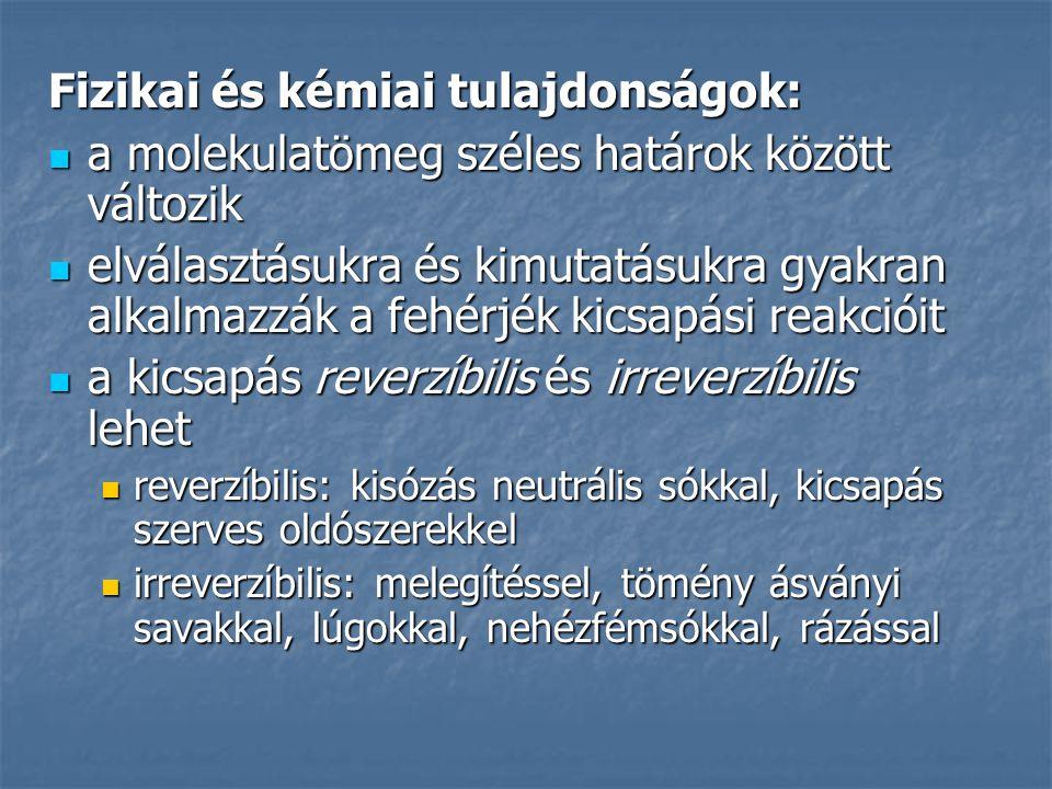 Fizikai és kémiai tulajdonságok: