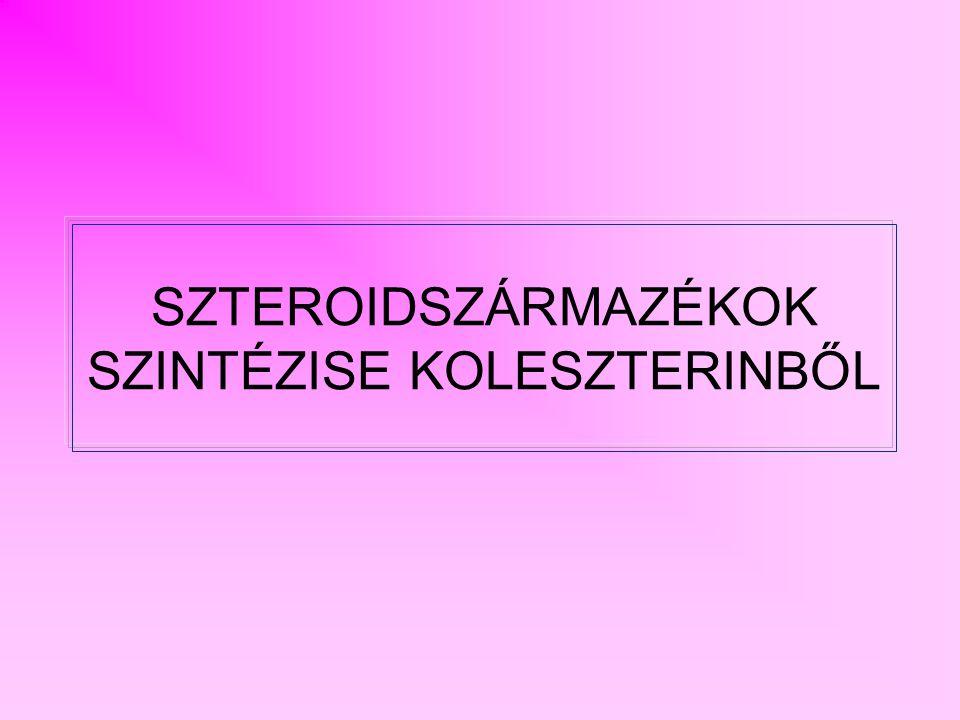 SZTEROIDSZÁRMAZÉKOK SZINTÉZISE KOLESZTERINBŐL