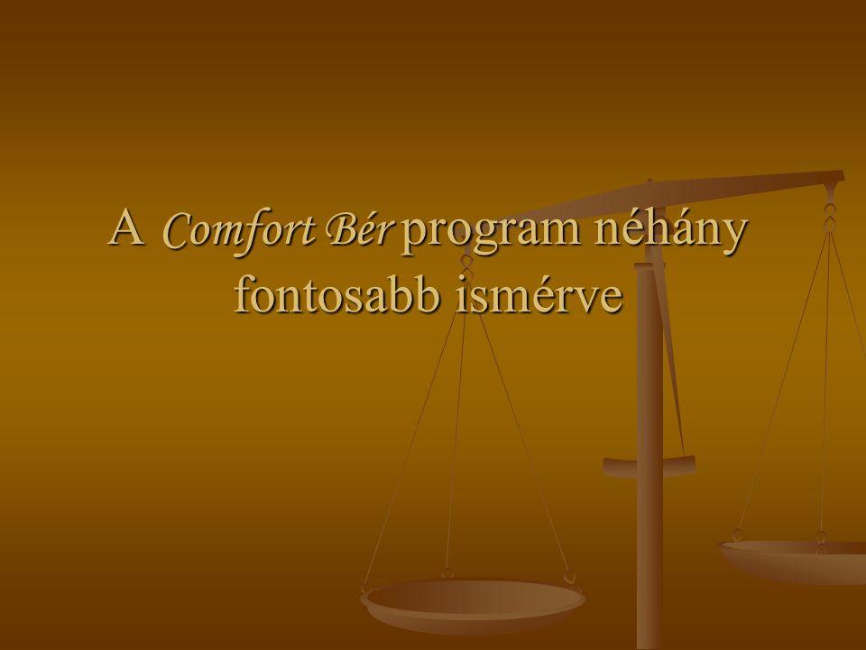 A Comfort Bér program néhány fontosabb ismérve