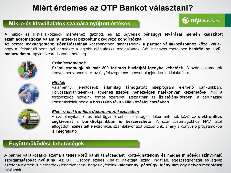 Miért érdemes az OTP Bankot választani