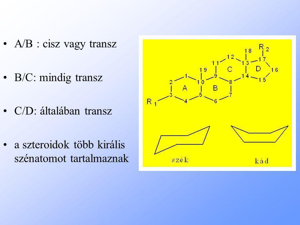 A/B : cisz vagy transz B/C: mindig transz. C/D: általában transz.