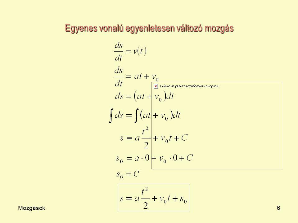 Egyenes vonalú egyenletesen változó mozgás