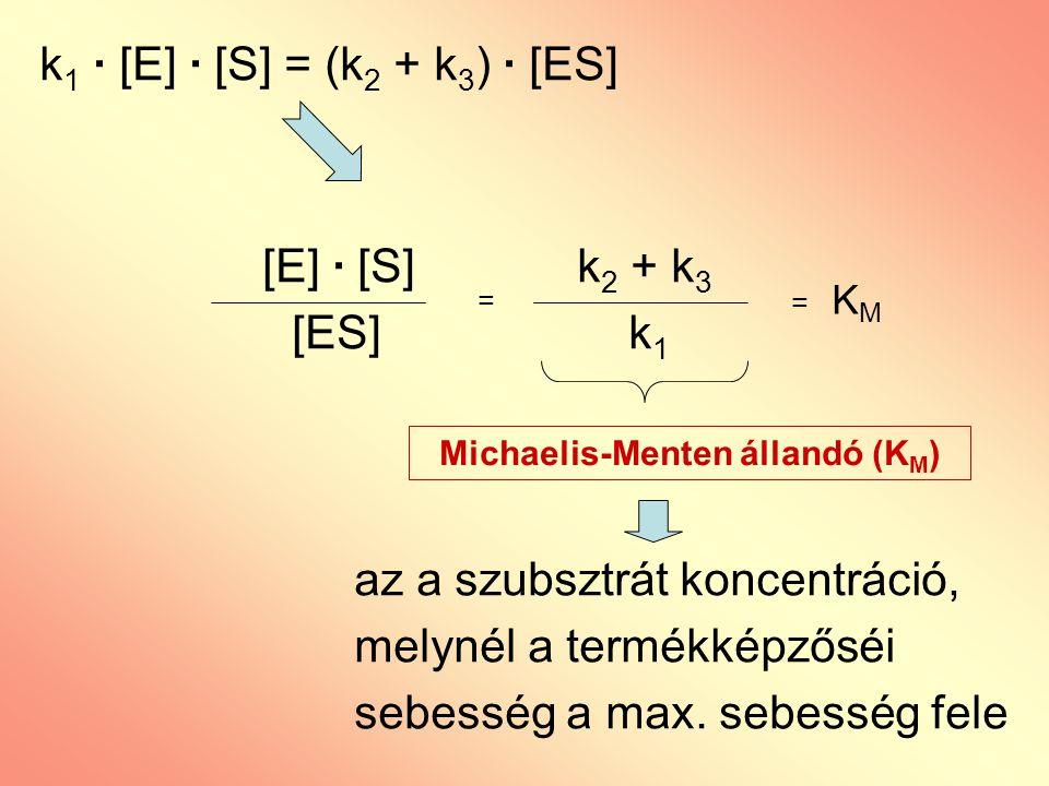 Michaelis-Menten állandó (KM)