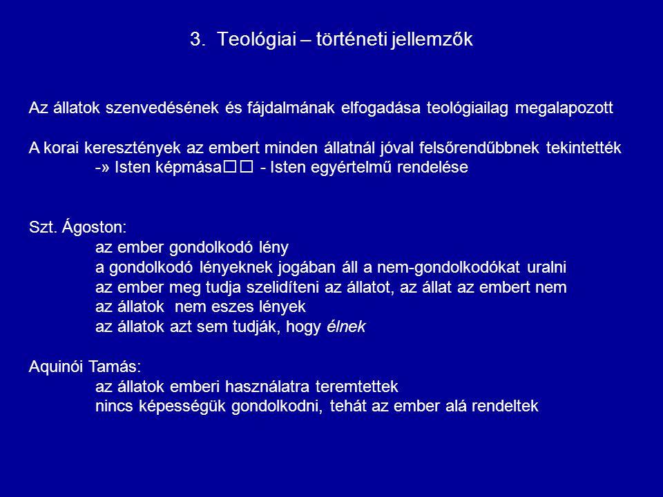 3. Teológiai – történeti jellemzők