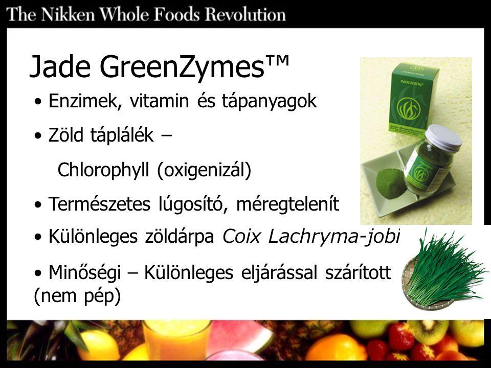 Jade GreenZymes™ Enzimek, vitamin és tápanyagok Zöld táplálék –