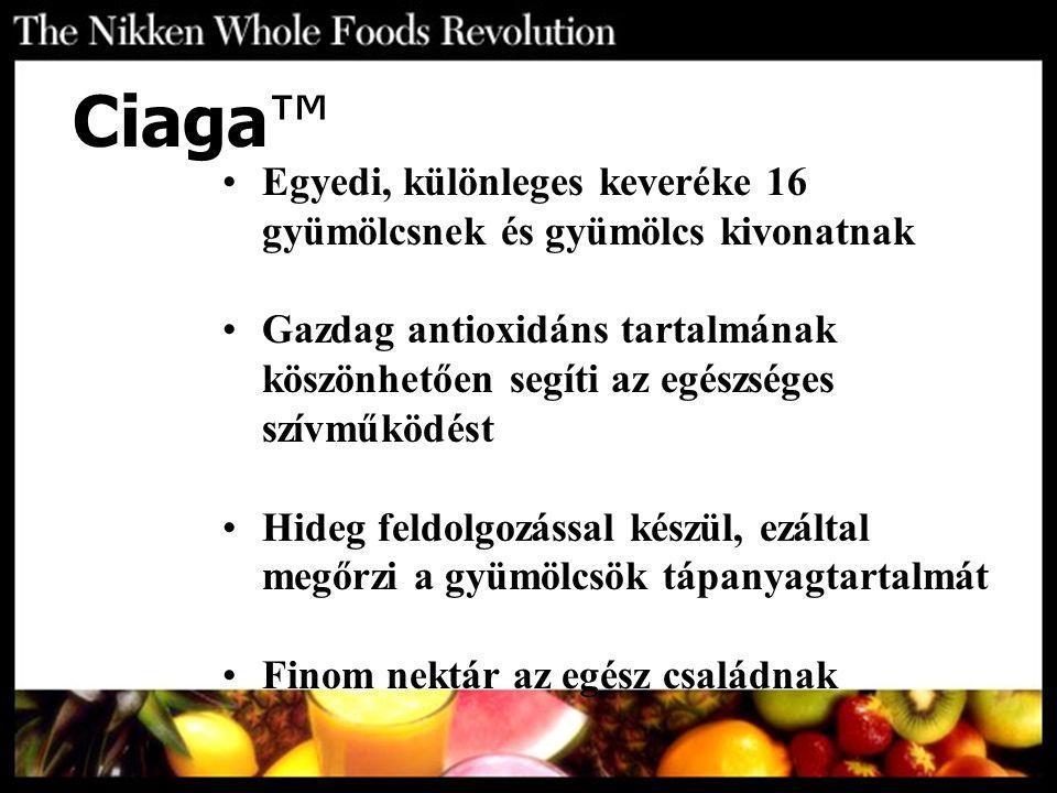 Ciaga™ Egyedi, különleges keveréke 16 gyümölcsnek és gyümölcs kivonatnak.