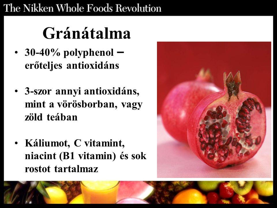 Gránátalma 30-40% polyphenol – erőteljes antioxidáns