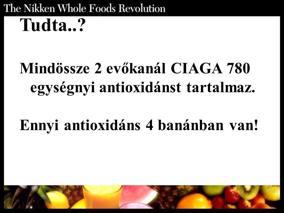 Tudta... Mindössze 2 evőkanál CIAGA 780 egységnyi antioxidánst tartalmaz.