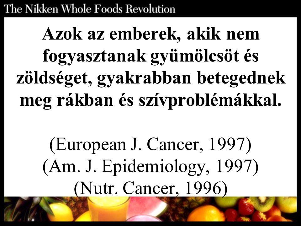 Azok az emberek, akik nem fogyasztanak gyümölcsöt és zöldséget, gyakrabban betegednek meg rákban és szívproblémákkal.