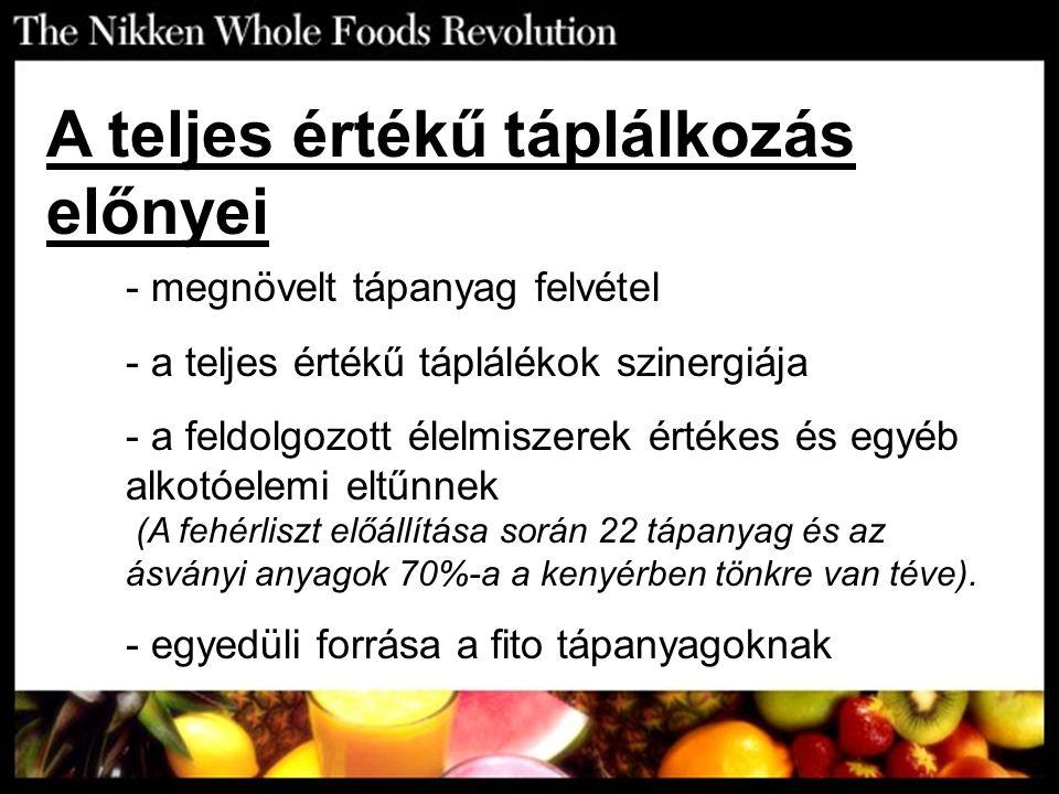 A teljes értékű táplálkozás előnyei