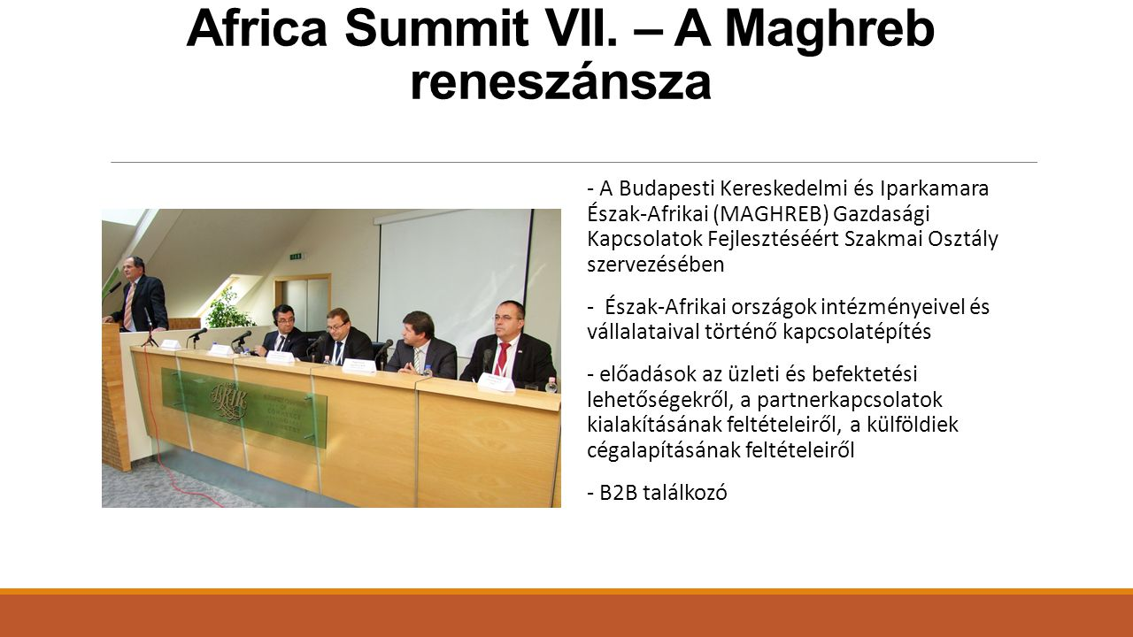 Africa Summit VII. – A Maghreb reneszánsza
