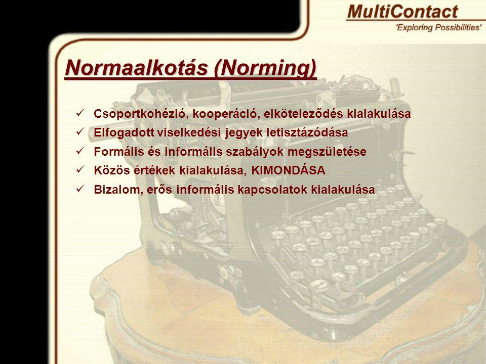 Normaalkotás (Norming)