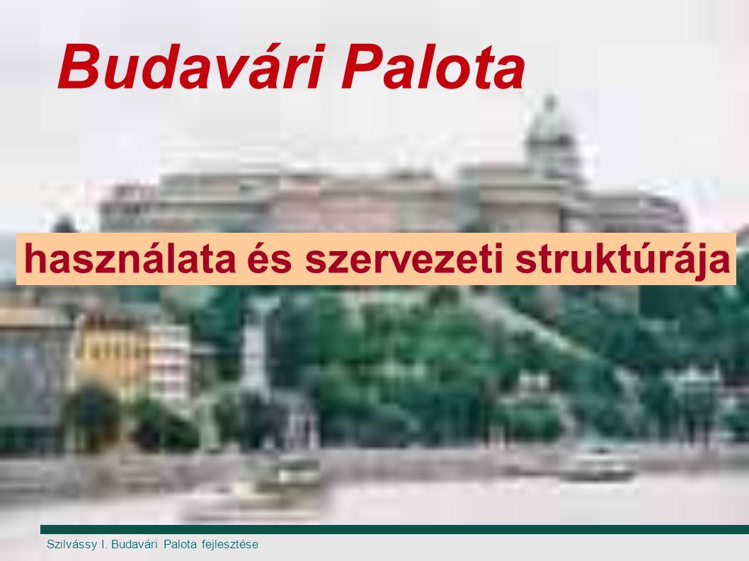 Budavári Palota használata és szervezeti struktúrája