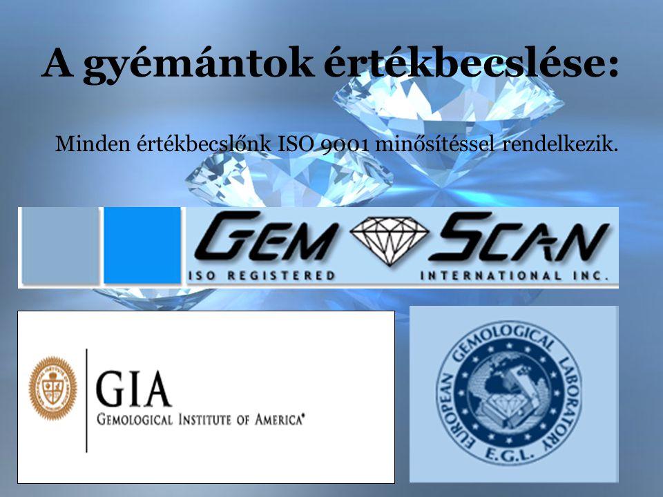 A gyémántok értékbecslése: