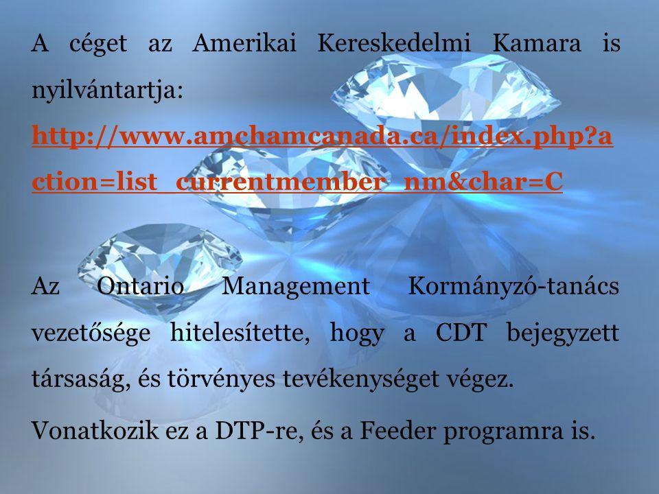 A céget az Amerikai Kereskedelmi Kamara is nyilvántartja: http://www