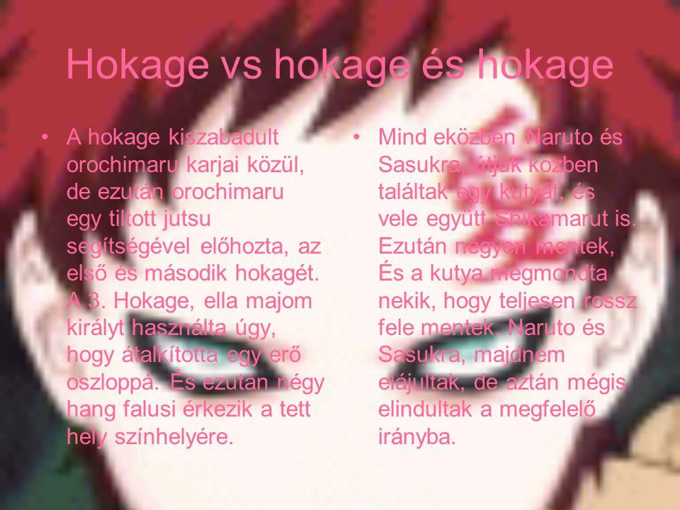 Hokage vs hokage és hokage