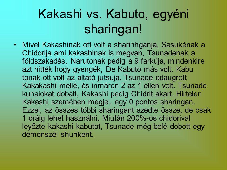 Kakashi vs. Kabuto, egyéni sharingan!