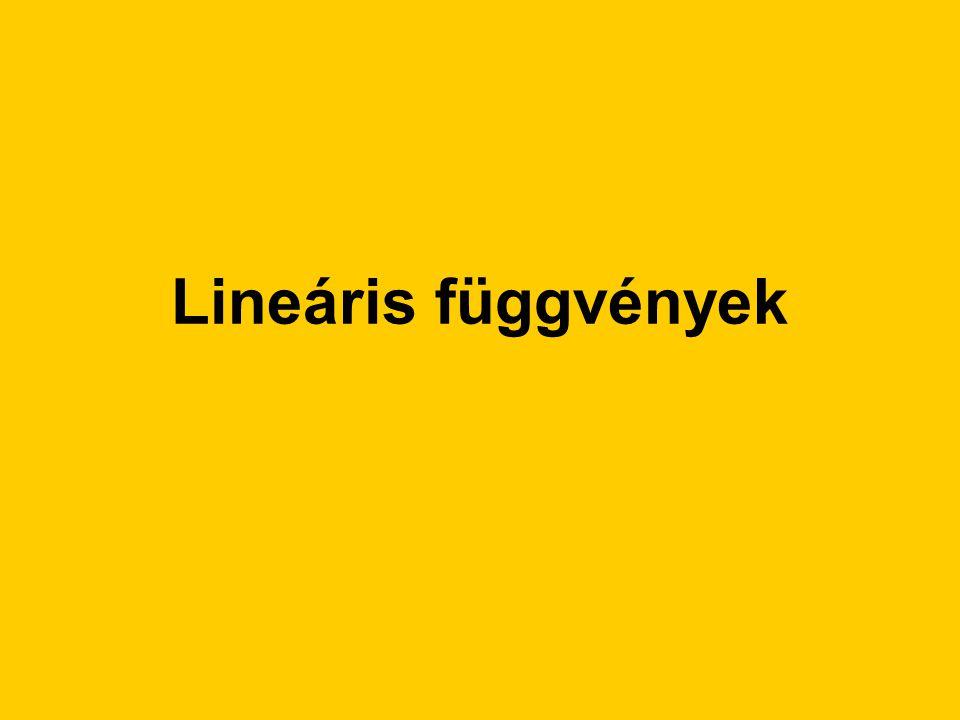 Lineáris függvények