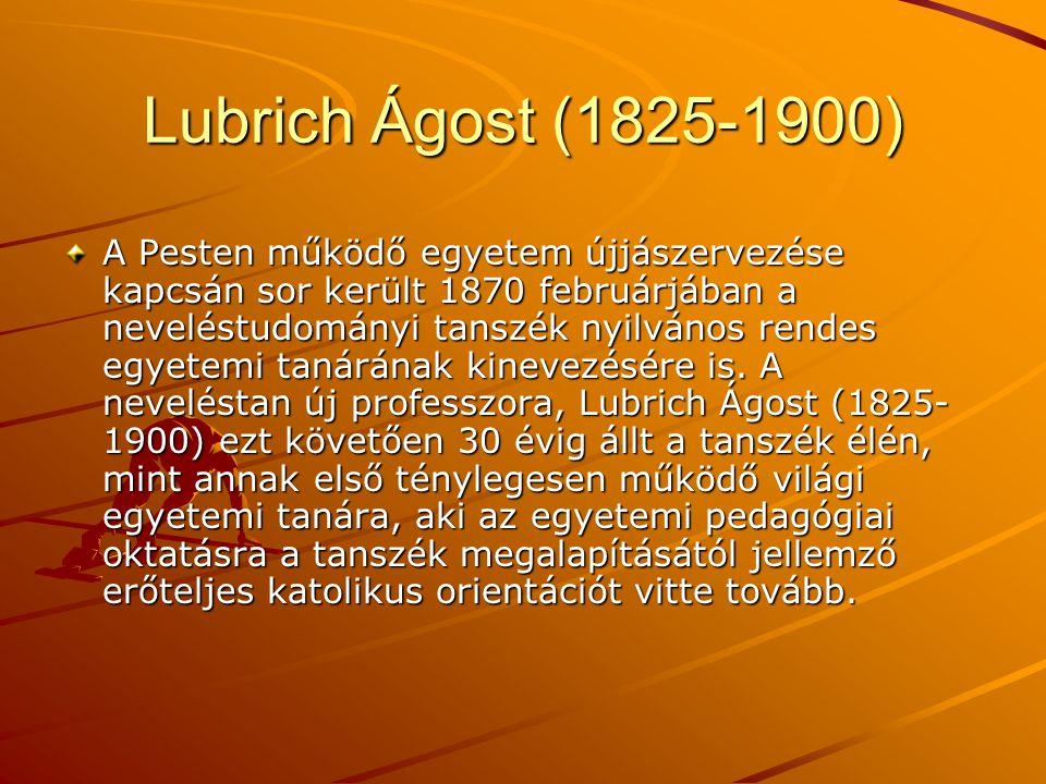 Lubrich Ágost (1825-1900)