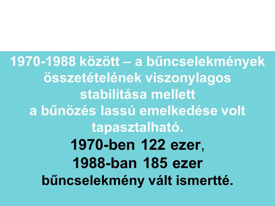 1970-1988 között – a bűncselekmények