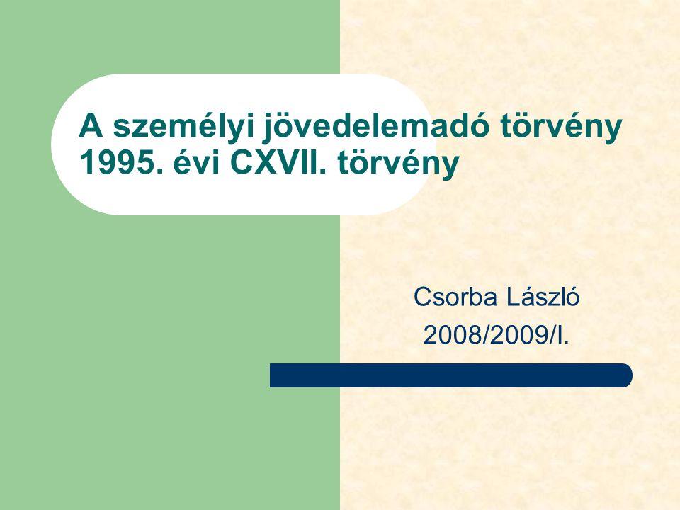 A személyi jövedelemadó törvény 1995. évi CXVII. törvény