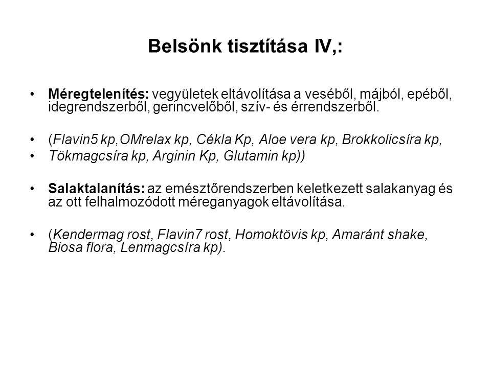 Belsönk tisztítása IV,: