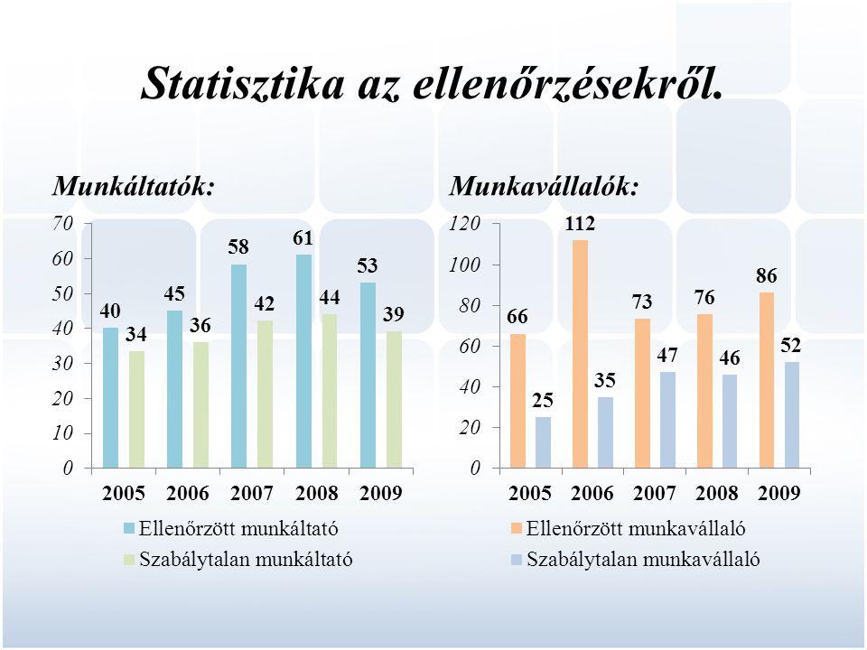 Statisztika az ellenőrzésekről.