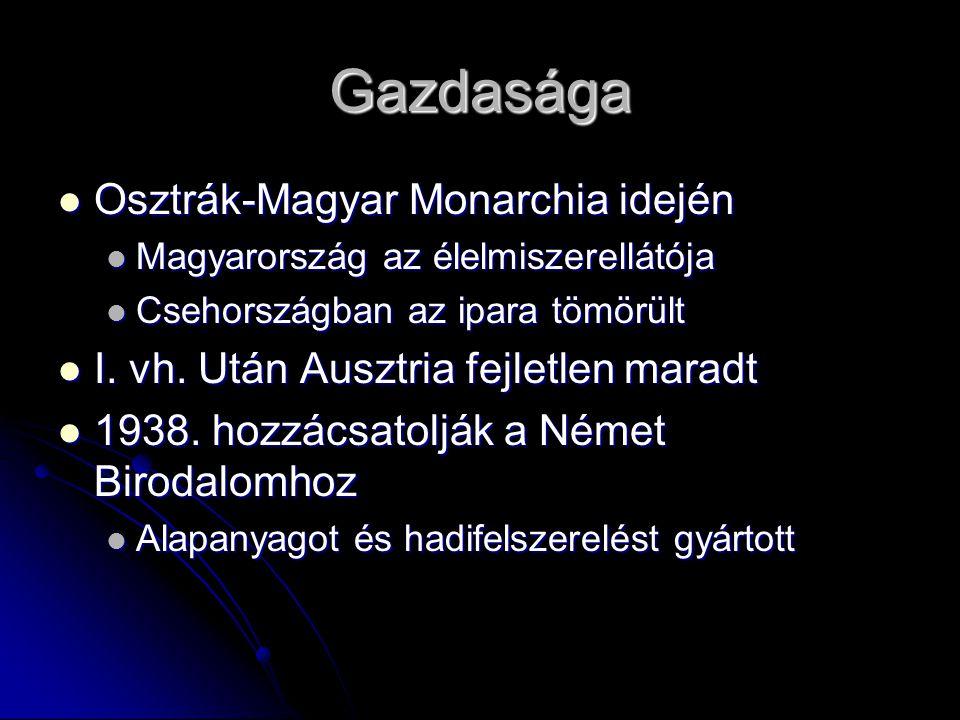 Gazdasága Osztrák-Magyar Monarchia idején