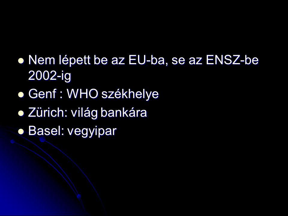 Nem lépett be az EU-ba, se az ENSZ-be 2002-ig