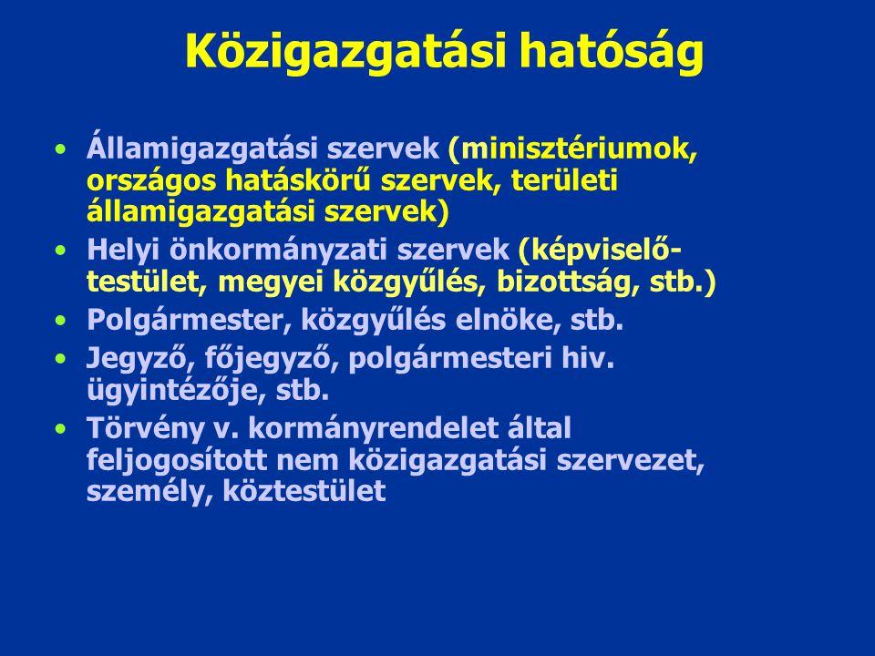 Közigazgatási hatóság