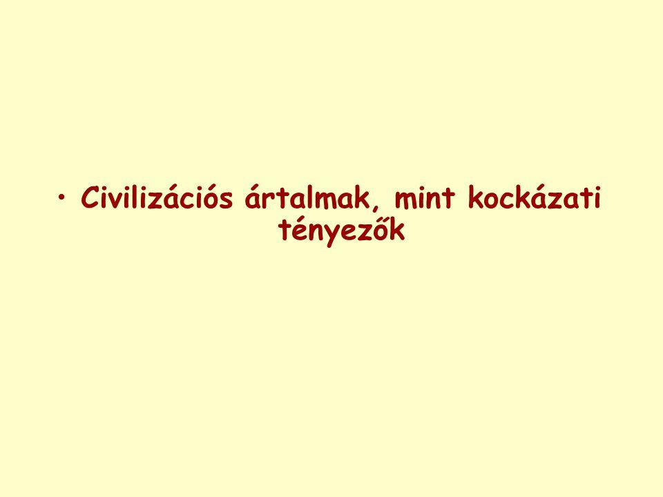 Civilizációs ártalmak, mint kockázati tényezők