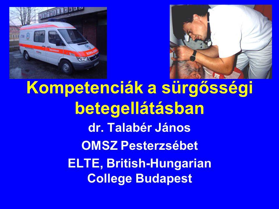 Kompetenciák a sürgősségi betegellátásban