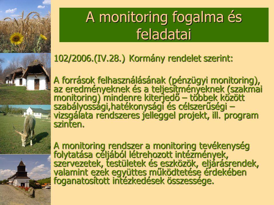 A monitoring fogalma és feladatai