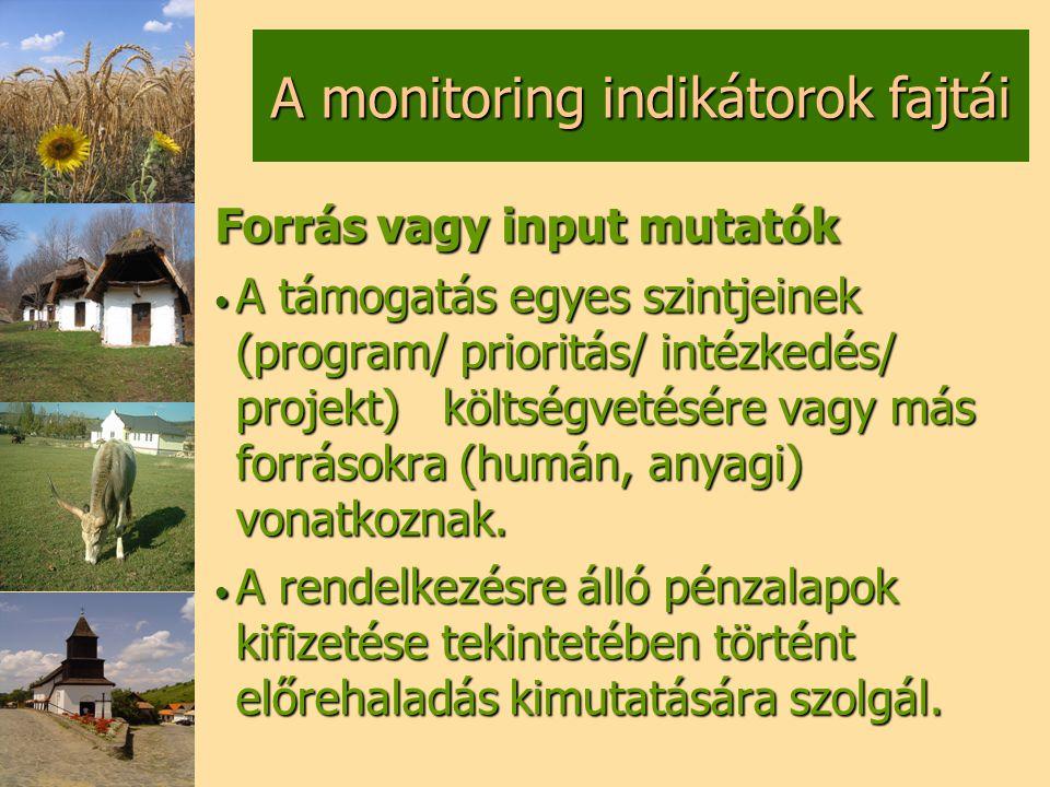 A monitoring indikátorok fajtái
