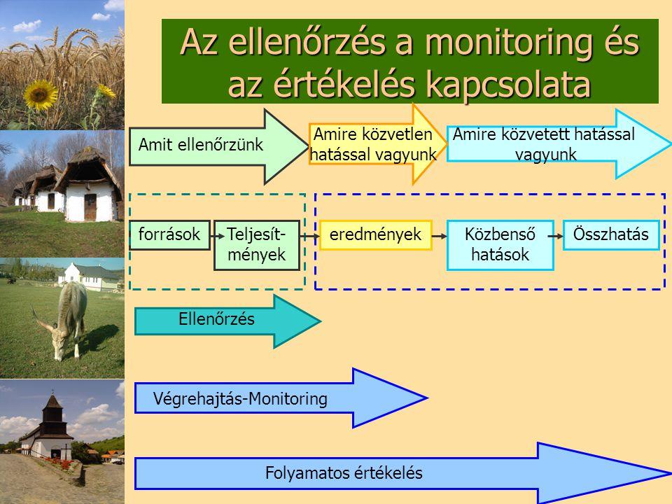 Az ellenőrzés a monitoring és az értékelés kapcsolata
