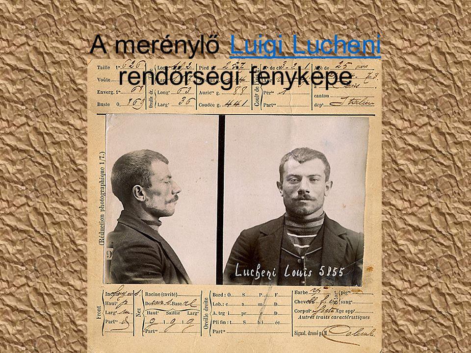 A merénylő Luigi Lucheni rendőrségi fényképe