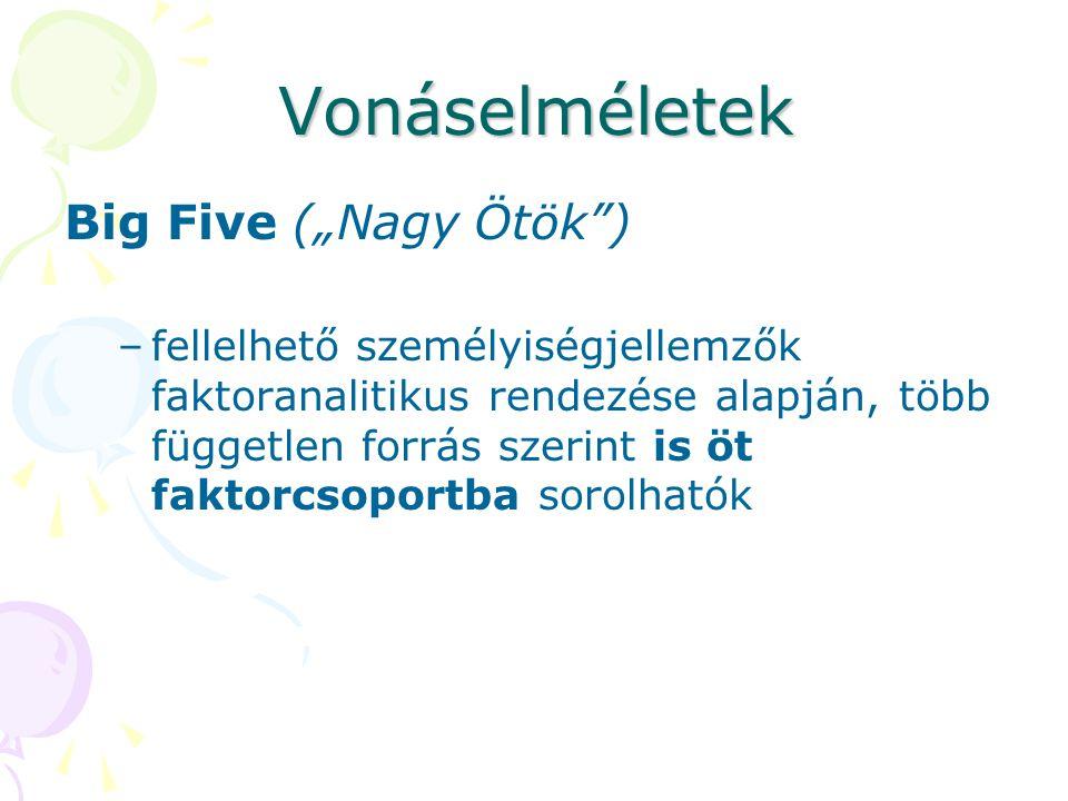 """Vonáselméletek Big Five (""""Nagy Ötök )"""