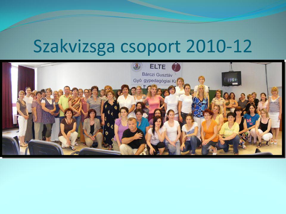 Szakvizsga csoport 2010-12 68 fő vizsgázott
