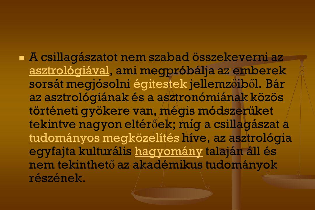 A csillagászatot nem szabad összekeverni az asztrológiával, ami megpróbálja az emberek sorsát megjósolni égitestek jellemzőiből.