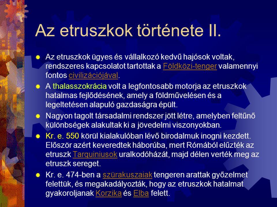 Az etruszkok története II.