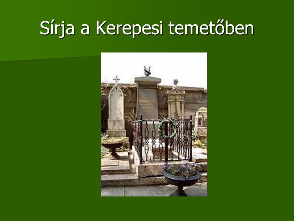 Sírja a Kerepesi temetőben