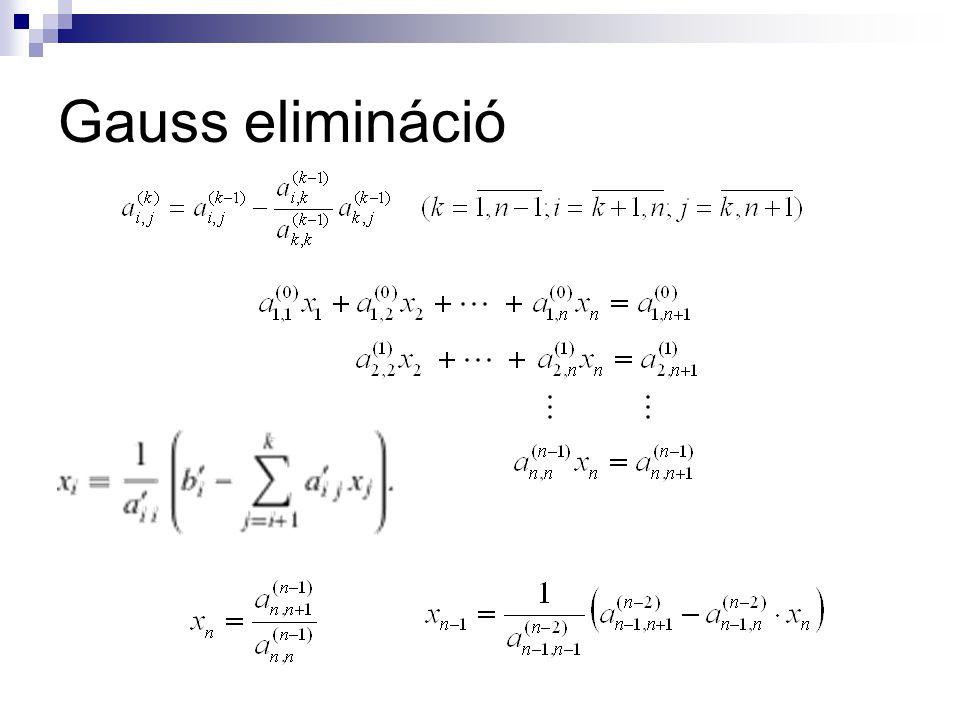 Gauss elimináció