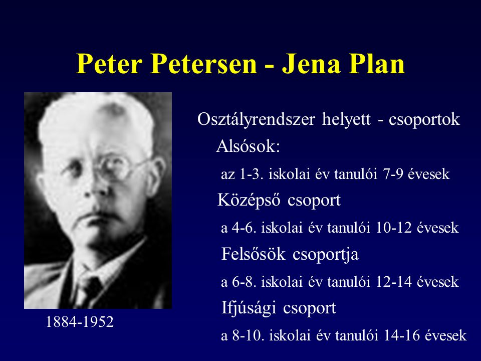 Peter Petersen - Jena Plan