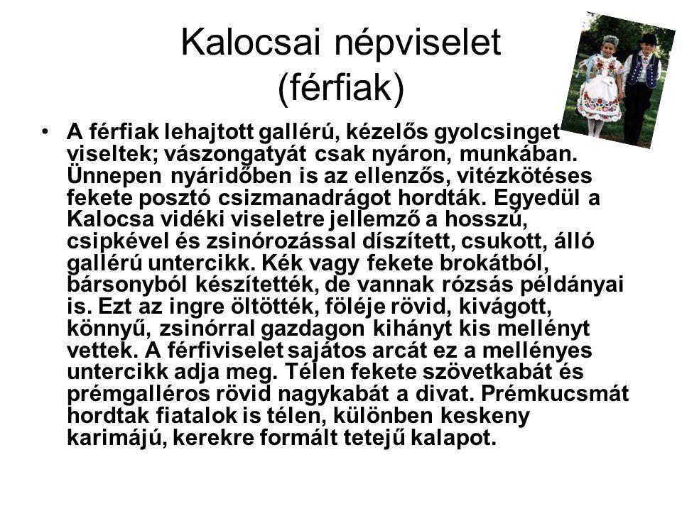 Kalocsai népviselet (férfiak)