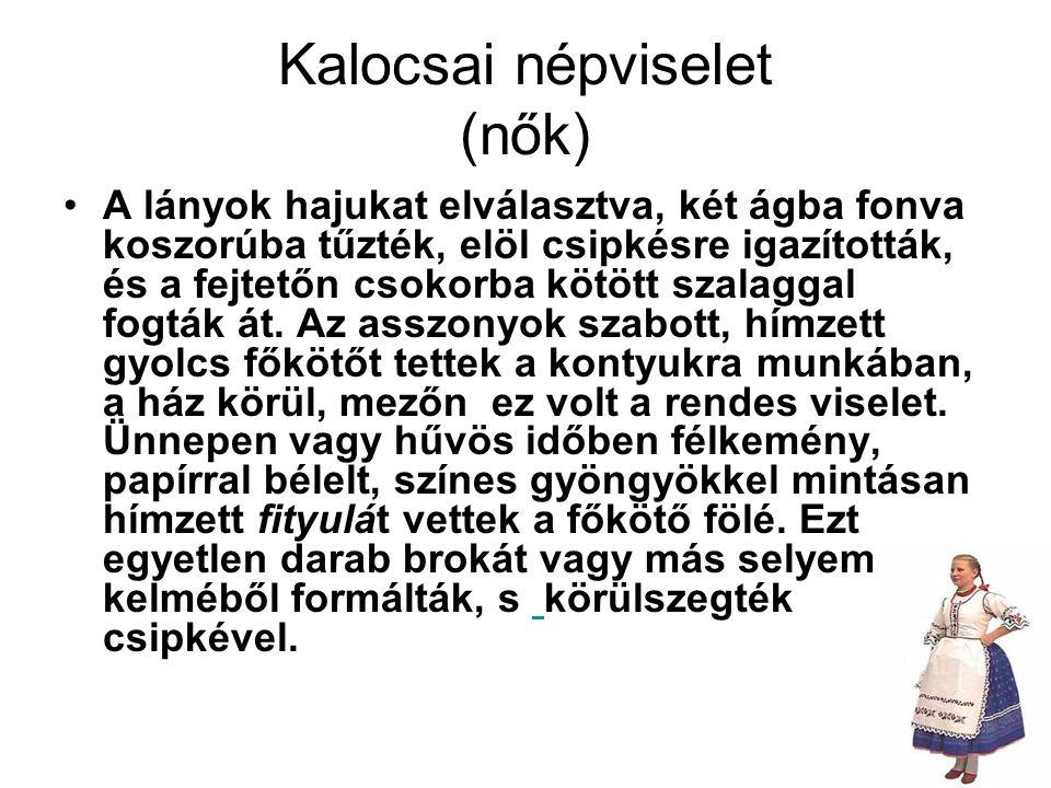 Kalocsai népviselet (nők)